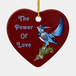 Ornamento del corazón de Feathyrkin Veeku Adorno Navideño De Cerámica En Forma De Corazón