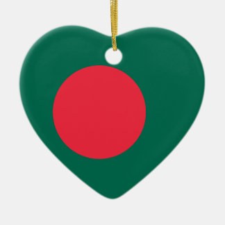 Ornamento del corazón de la bandera de Bangladesh Ornato
