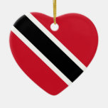 Ornamento del corazón de la bandera de Trinidad Adorno Navideño De Cerámica En Forma De Corazón