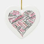 Ornamento del corazón de la conciencia de AVM Adorno