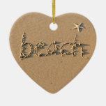 Ornamento del corazón de la playa adorno de reyes