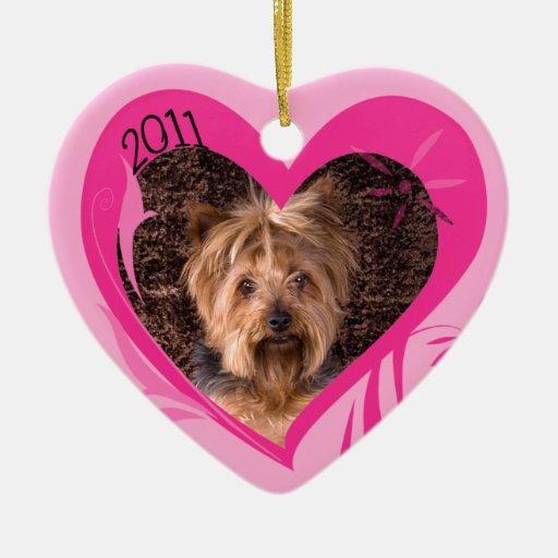 Ornamento del corazón de la tarjeta del día de San Adorno Navideño De Cerámica En Forma De Corazón