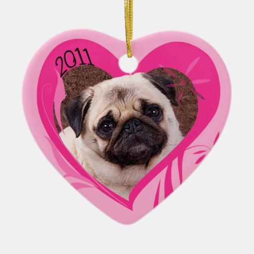 Ornamento del corazón de la tarjeta del día de San Adorno De Cerámica En Forma De Corazón