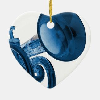 Ornamento del corazón de la trompeta ornato