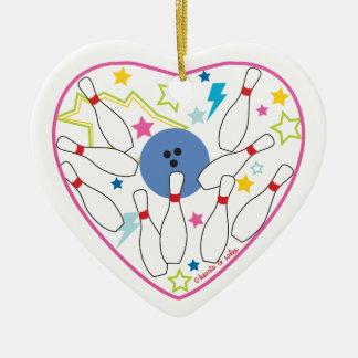 Ornamento del corazón de los bolos adorno navideño de cerámica en forma de corazón