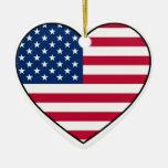 Ornamento del corazón de los E.E.U.U. para el árbo Ornamento De Navidad