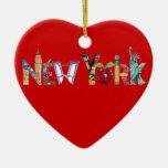 Ornamento del corazón de Nueva York Ornamento Para Reyes Magos