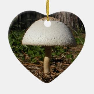 Ornamento del corazón de Shroom 0659 Adorno Navideño De Cerámica En Forma De Corazón