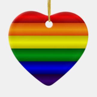 Ornamento del corazón del arco iris ornamento de navidad