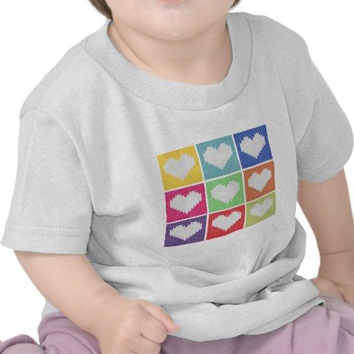 Ornamento del corazón del arte pop camiseta