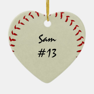 Ornamento del corazón del béisbol ornamentos para reyes magos