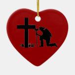 ornamento del corazón del bombero adorno