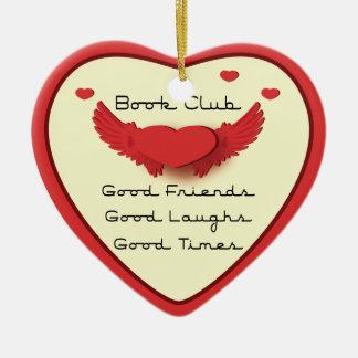 ornamento del corazón del círculo de lectores adornos