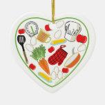 Ornamento del corazón del cocinero ornatos