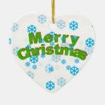 Ornamento del corazón del copo de nieve de las Fel Ornaments Para Arbol De Navidad