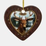 Ornamento del corazón del dólar de los ciervos de adornos de navidad