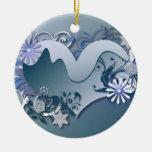 ornamento del corazón del invierno ornato