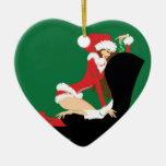 Ornamento del corazón del muérdago ornamento de navidad