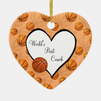Ornamento del corazón del navidad del baloncesto ornamentos de reyes