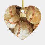 Ornamento del corazón del navidad del béisbol ornamente de reyes