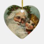 Ornamento del corazón del navidad del padre de adorno para reyes