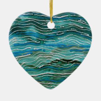 Ornamento del corazón del océano de la sirena ornaments para arbol de navidad