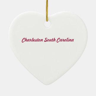 Ornamento del corazón del SC de Charleston Adorno De Navidad