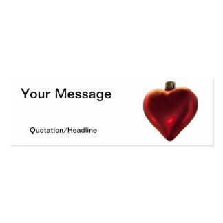 Ornamento del corazón - todos lo que quiero para e tarjeta de visita