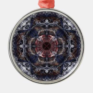Ornamento del cordón de la tarjeta del día de San Adorno Navideño Redondo De Metal