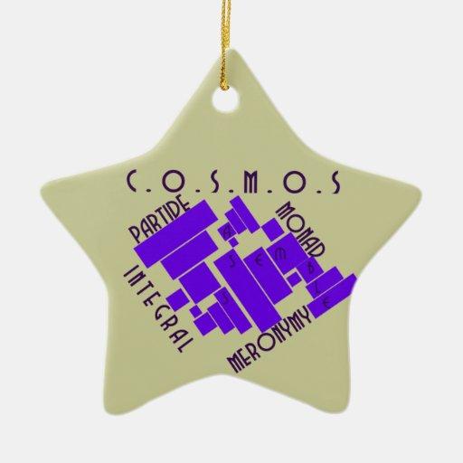 Ornamento del cosmos adorno de cerámica en forma de estrella