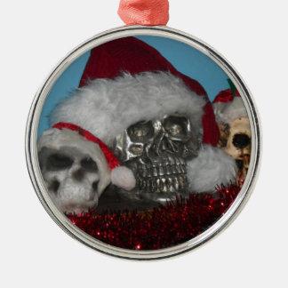 Ornamento del cráneo de Santa Ornamento De Navidad