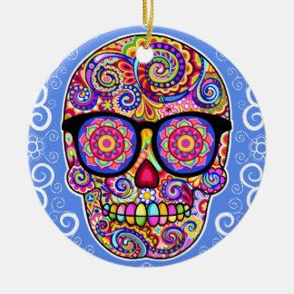 Ornamento del cráneo del azúcar del inconformista  ornamentos para reyes magos