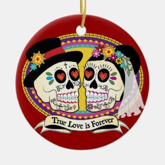 Ornamento del cráneo del azúcar del Los Novios Ornamentos Para Reyes Magos