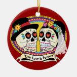 Ornamento del cráneo del azúcar del Los Novios (in Ornamentos Para Reyes Magos