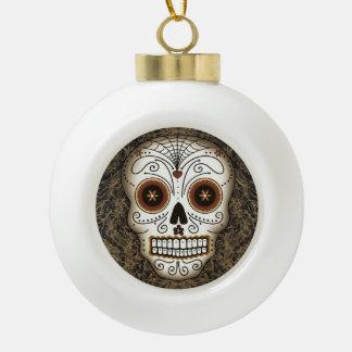 Ornamento del cráneo del azúcar del vintage (bola