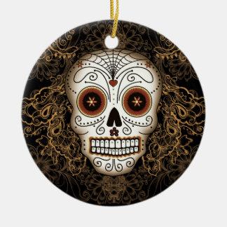Ornamento del cráneo del azúcar del vintage ornamentos de reyes