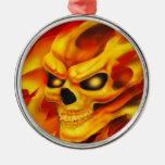 Ornamento del cráneo del fuego adornos