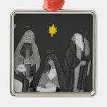 Ornamento del cuadrado de la escena de la nativida adornos de navidad