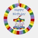 Ornamento del cumpleaños del carrusel del unicorni ornamentos para reyes magos