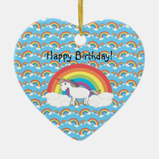 Ornamento del cumpleaños del unicornio adornos