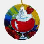 Ornamento del daiquirí de fresa ornaments para arbol de navidad