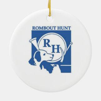 Ornamento del deco del club de caza de Rombout Adorno Redondo De Cerámica