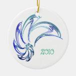 Ornamento del delfín adorno redondo de cerámica