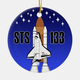 Ornamento del descubrimiento STS-133 Ornamento Para Reyes Magos