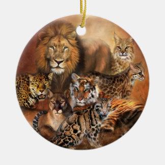 Ornamento del día de fiesta de Cat Power Ornamento De Reyes Magos