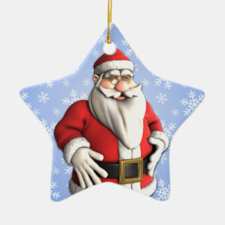 Ornamento del día de fiesta de la familia de la adorno navideño de cerámica en forma de estrella
