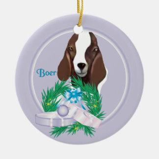 Ornamento del día de fiesta de la guirnalda de la adorno navideño redondo de cerámica