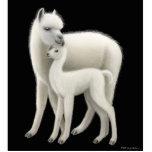 Ornamento del día de fiesta de la mamá de la alpac escultura fotografica