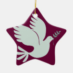 Ornamento del día de fiesta de la paloma de la paz adornos