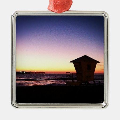 Ornamento del día de fiesta de la puesta del sol adorno de navidad